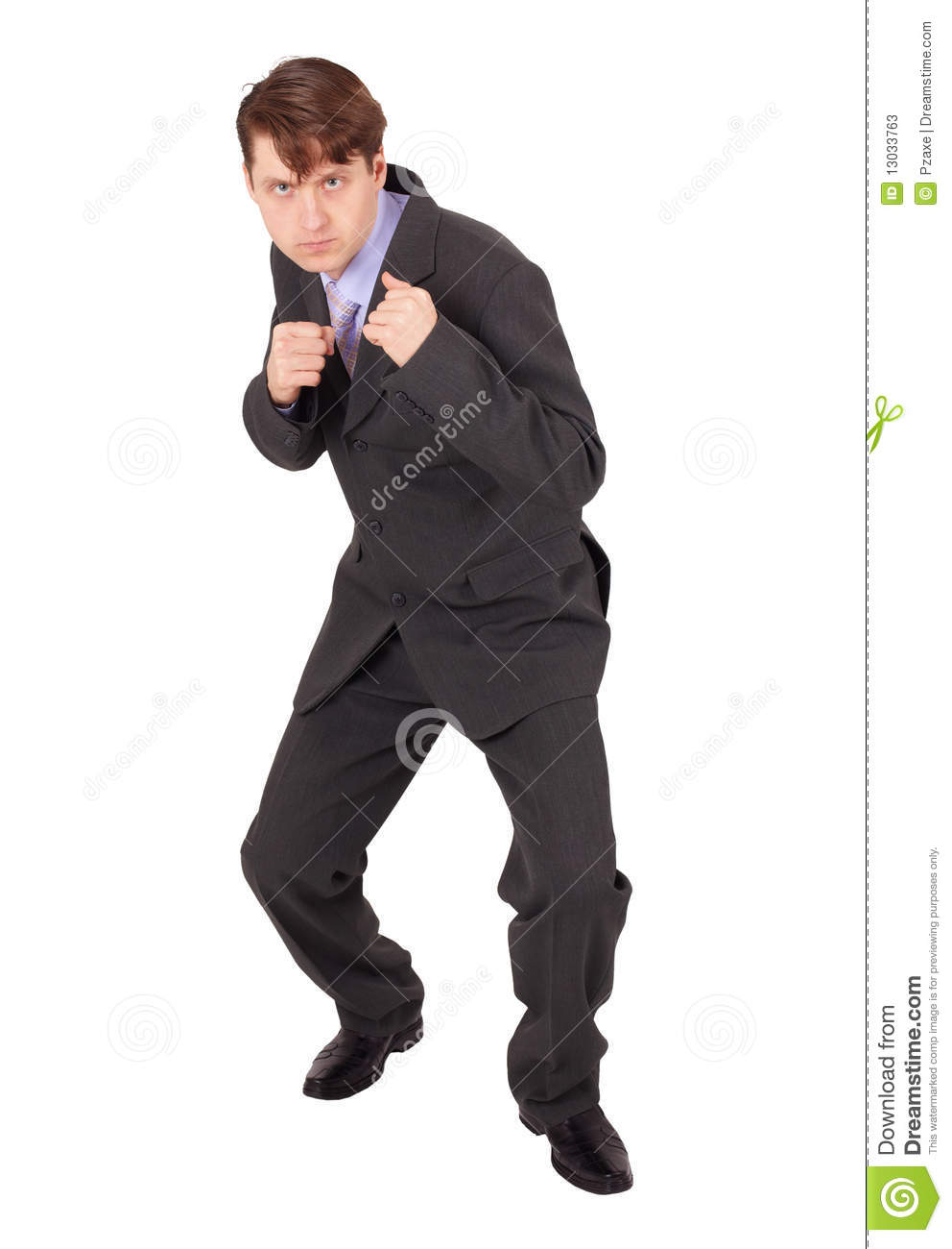 Young Man In Boxing Fighting Stance Stock Photos - Image: 13033763