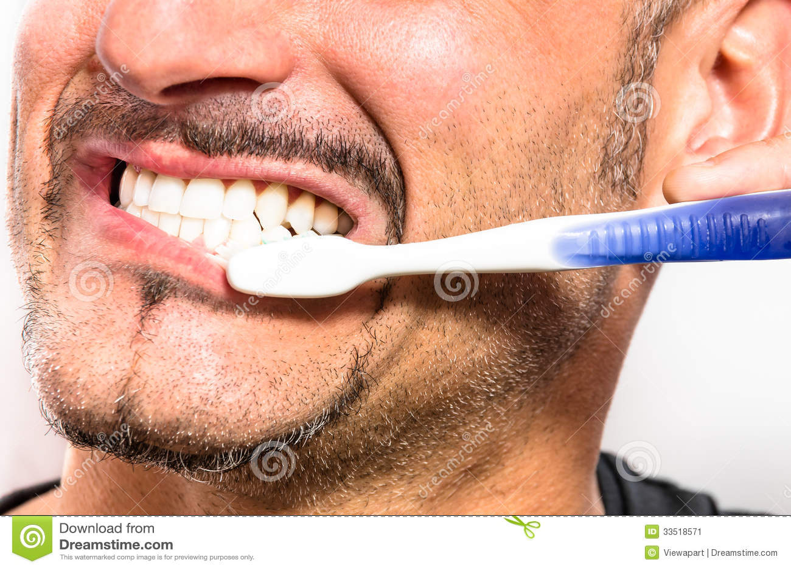 Men white teeth