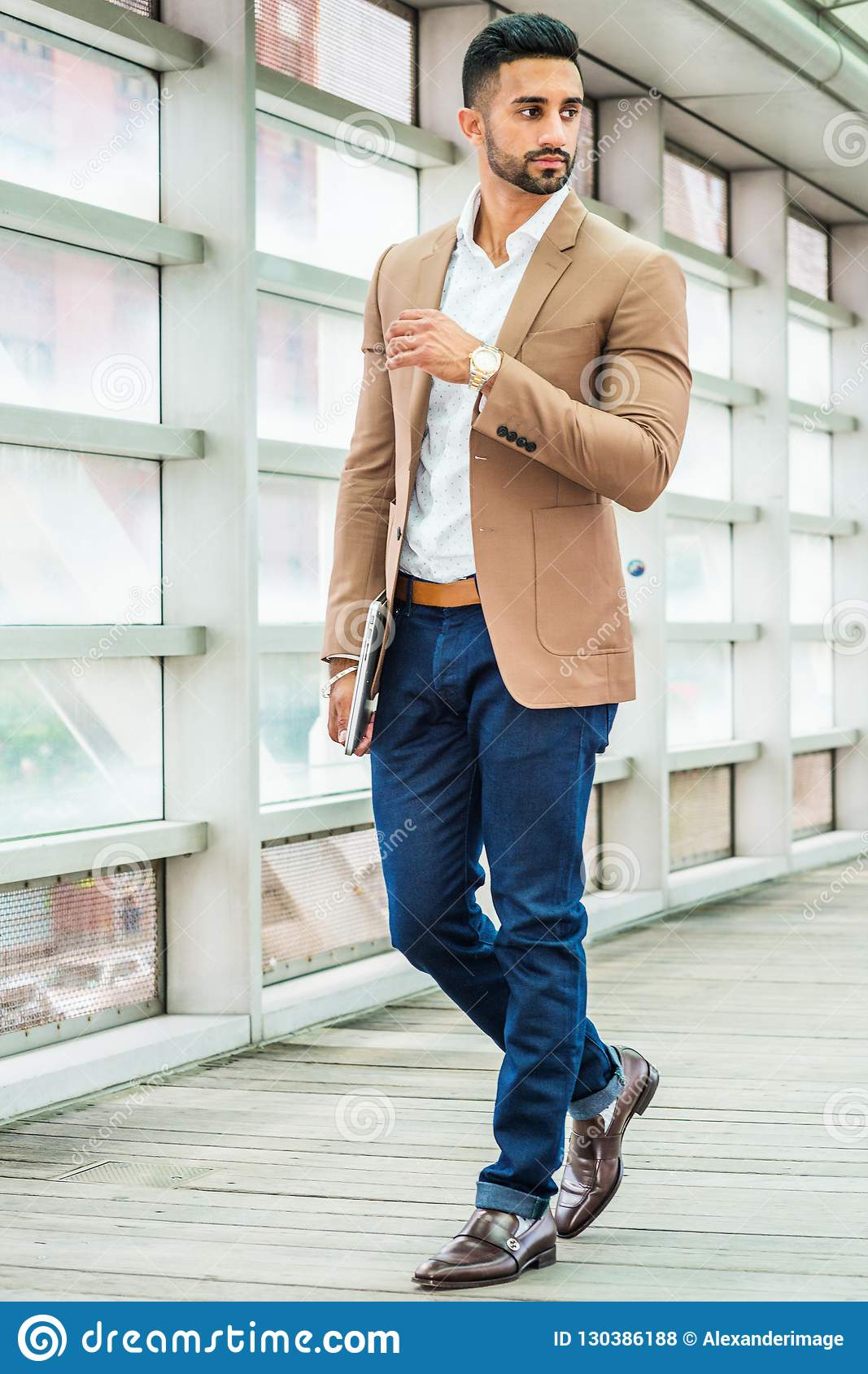 286866df6d7 Young Man Business Casual Fashion In New York Stock Photo - Image of ...