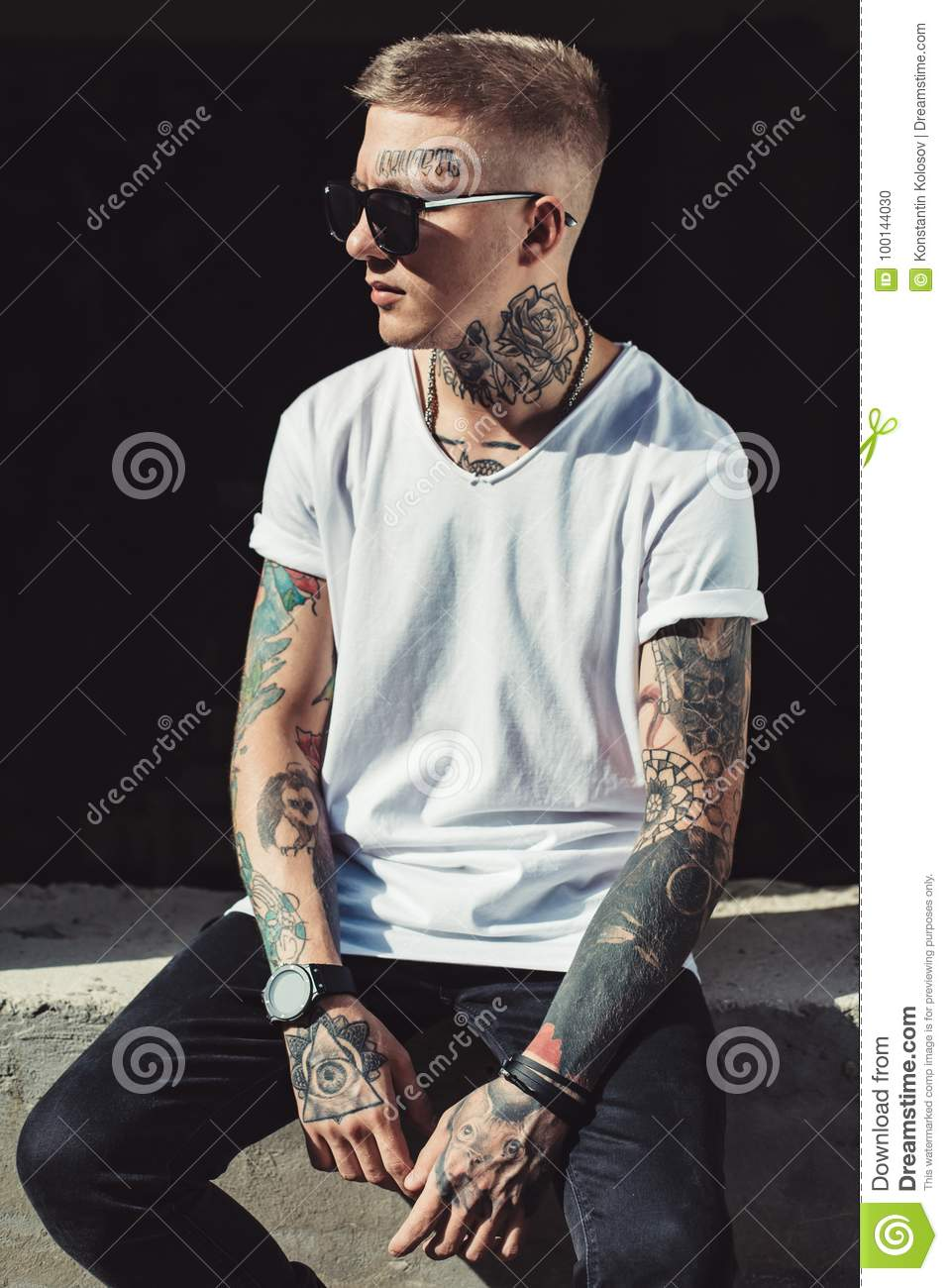 tattoos young stylish body preview