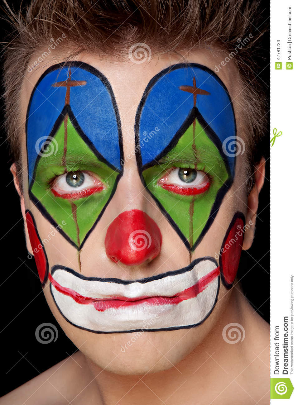Jester Makeup Ideas Stock Photos, Pictures & Royalty-Free
