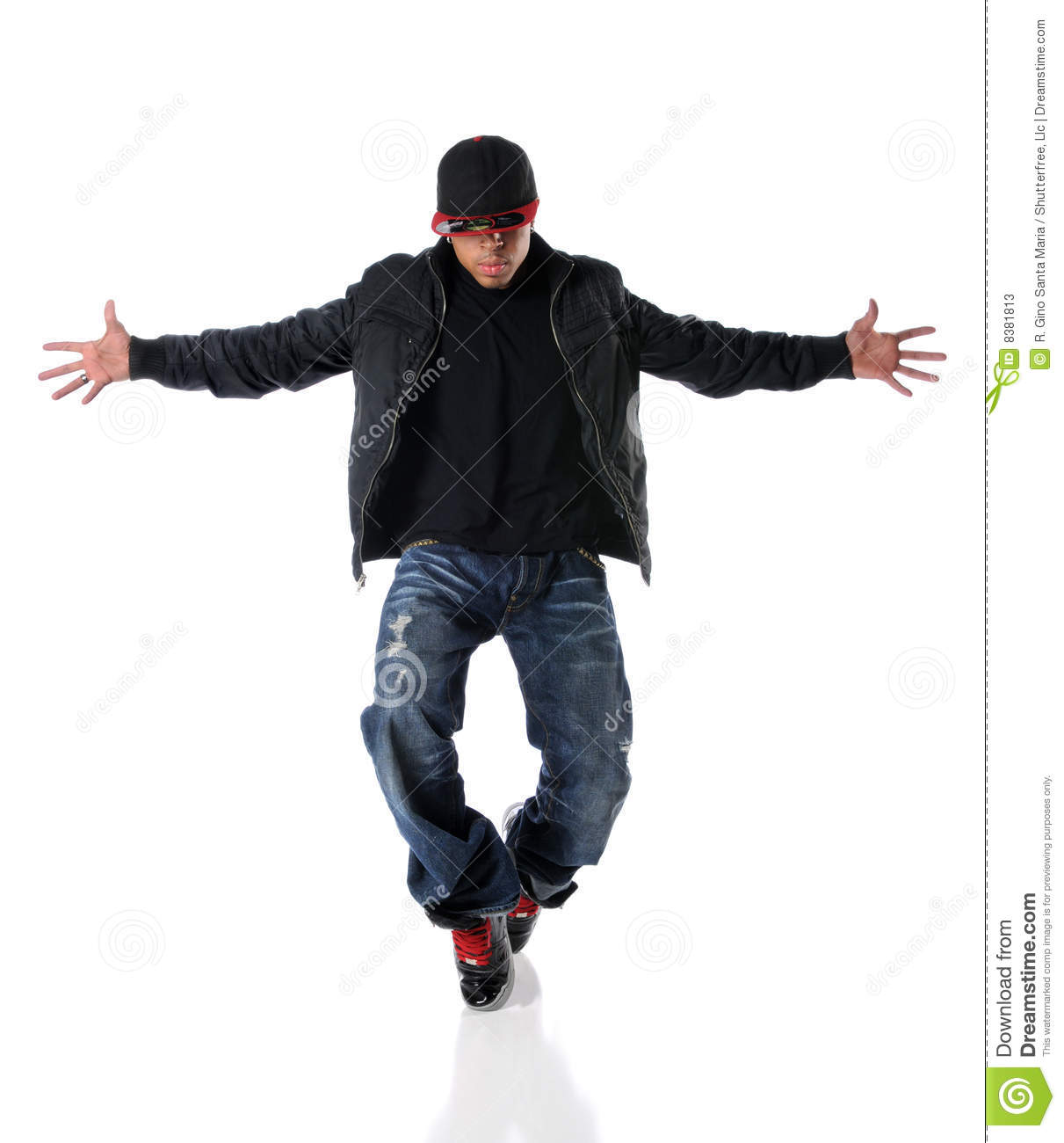 Young Man Dancing Hip Hop Style Stock Image Image 8381813