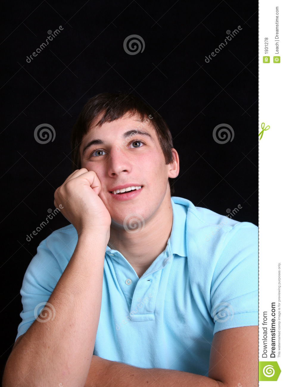 Young Man Daydreaming Stock Photo Image Of Cute Wander