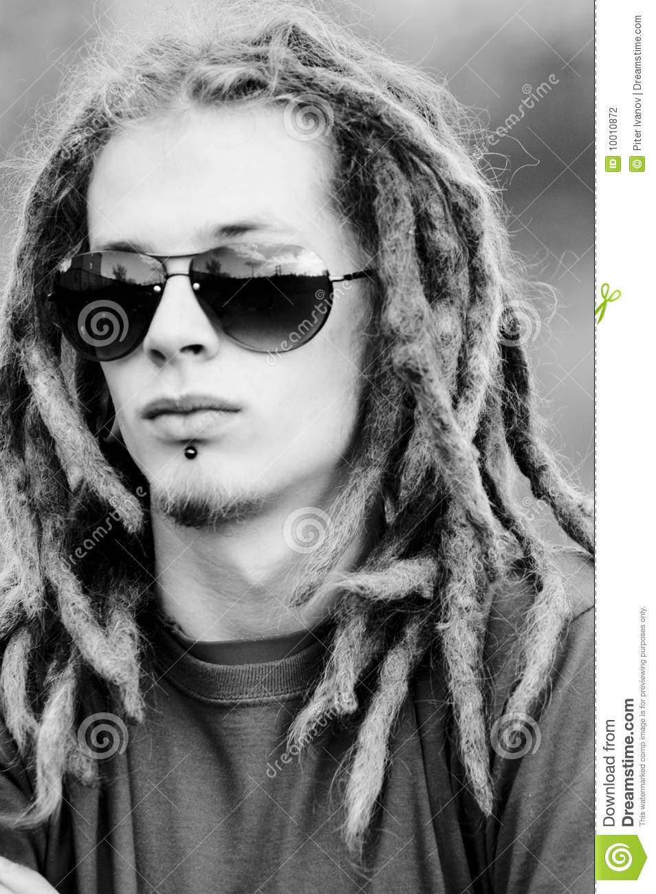 Young Man With Dreadlocks Stock Photo Image Of Rasta