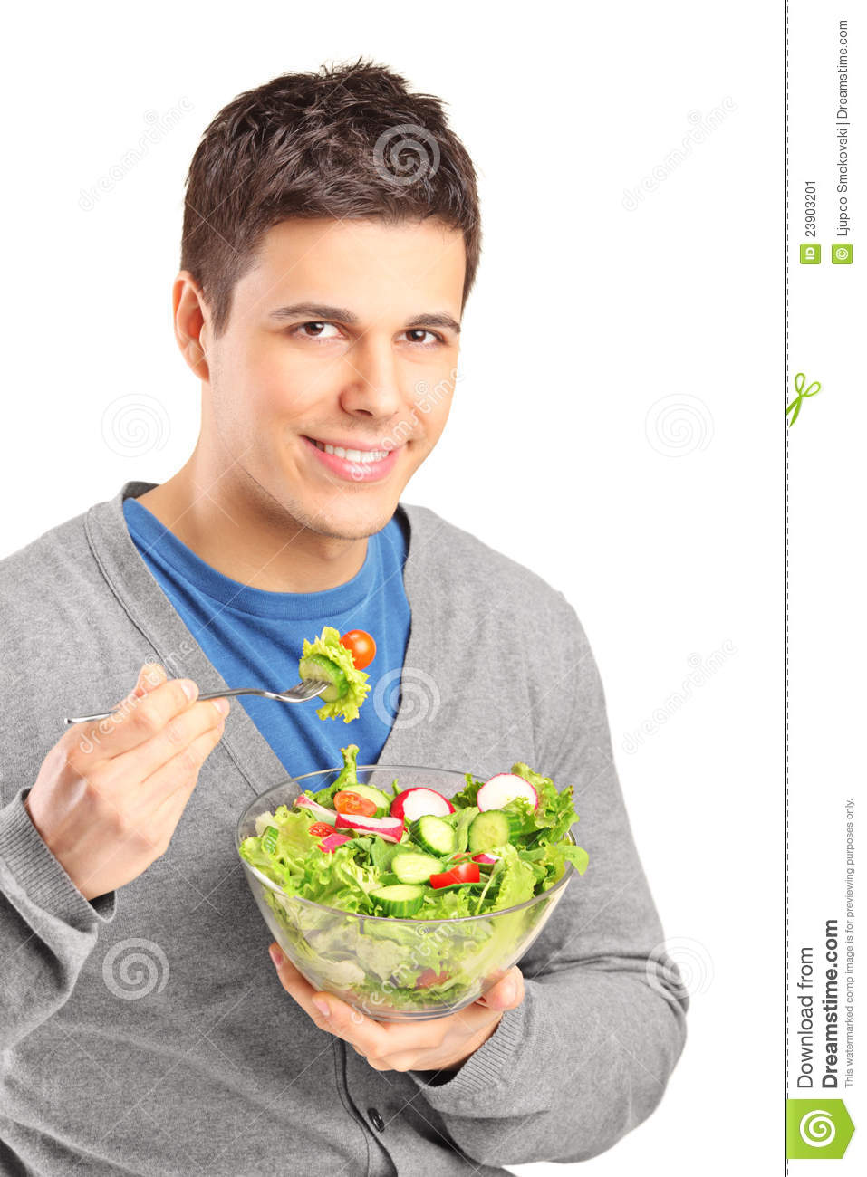a young man eating salad stock image image 23903201 bow clipart bowl clip art free
