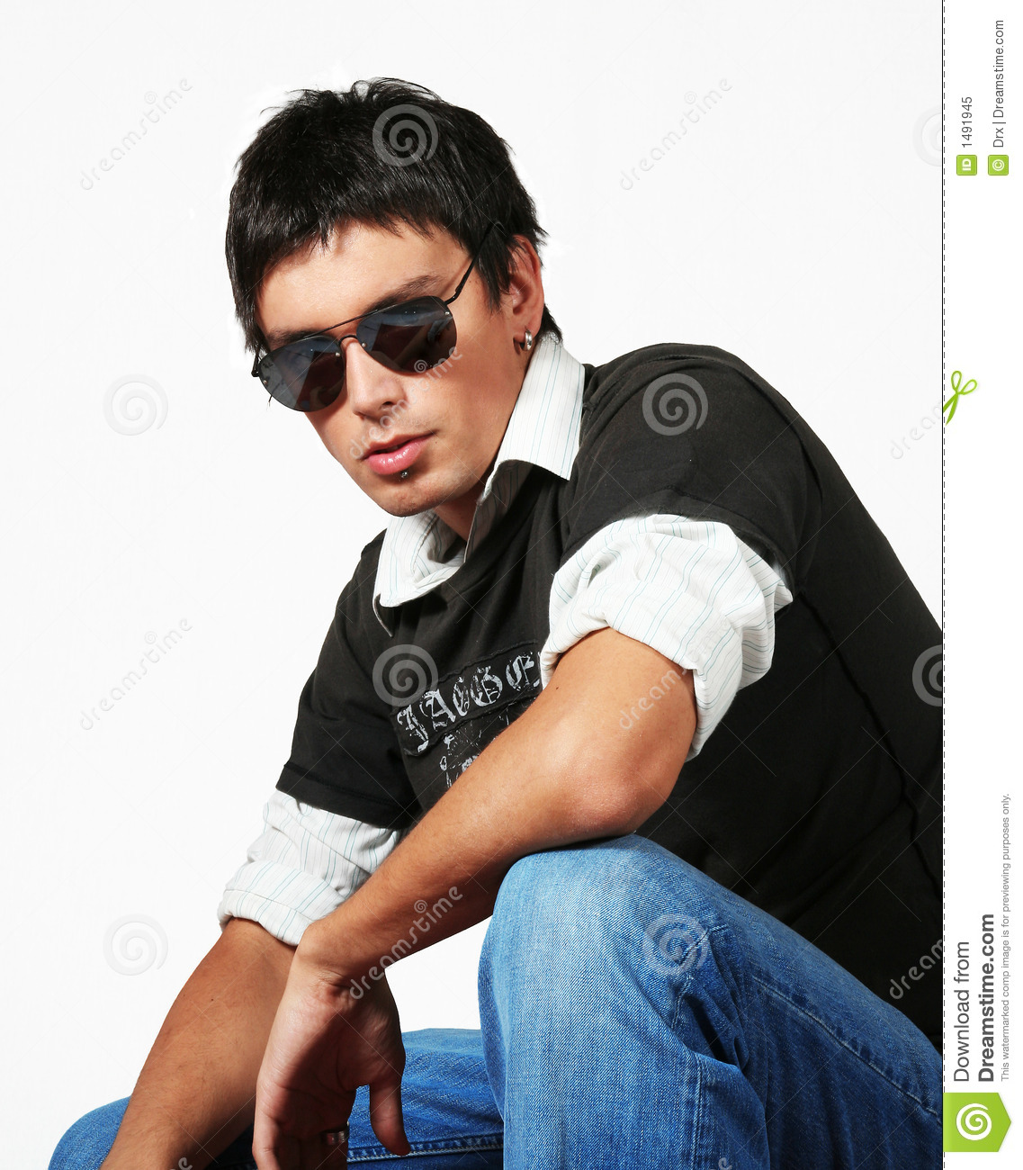 Young Man Fashion Style Royalty Free Stock Photo Image
