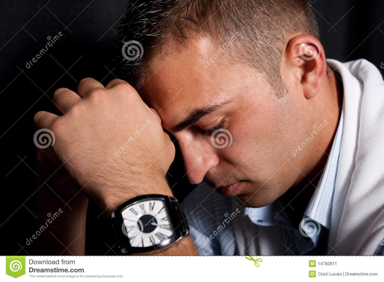 Young man feeling sad stock image. Image of confident ...
