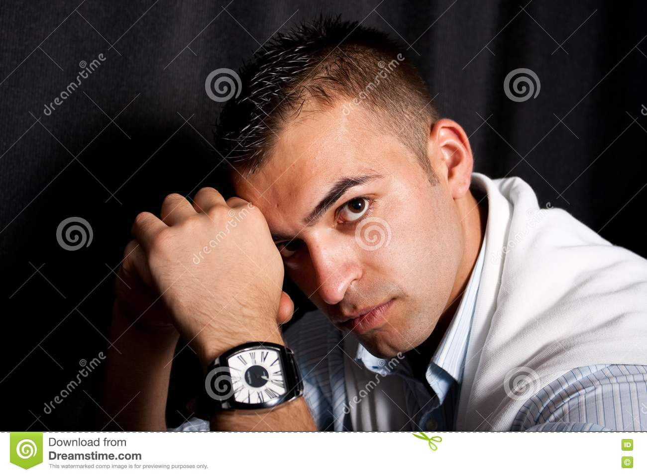 Young Man Feeling Sad Stock Images - Image: 14782824