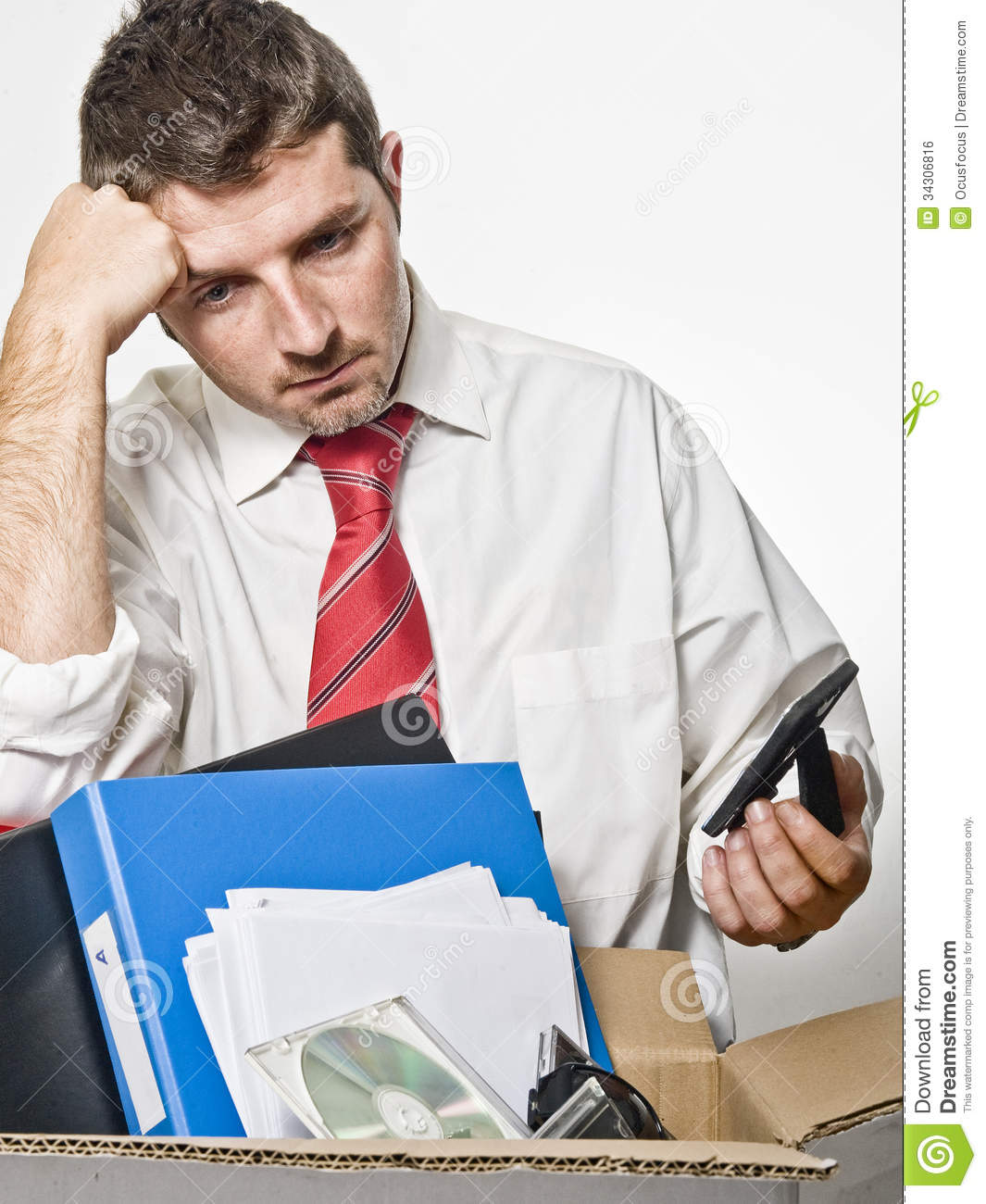 Young Man Fired From Job Royalty Free Stock Image - Image: 34306816