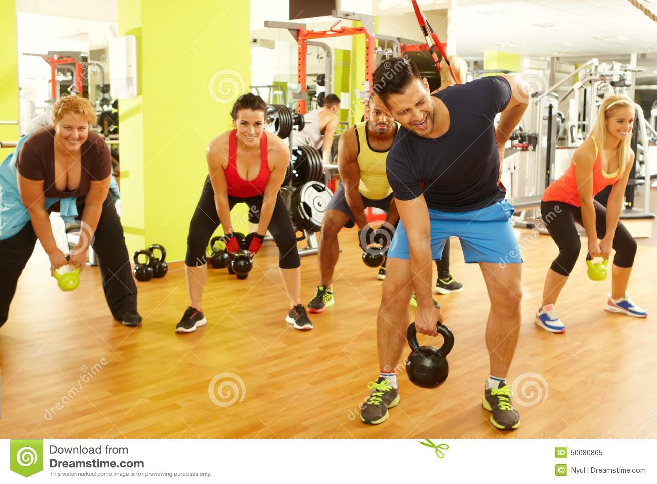 Young man getting injured in fitness club stock image for Gimnasio fitness club