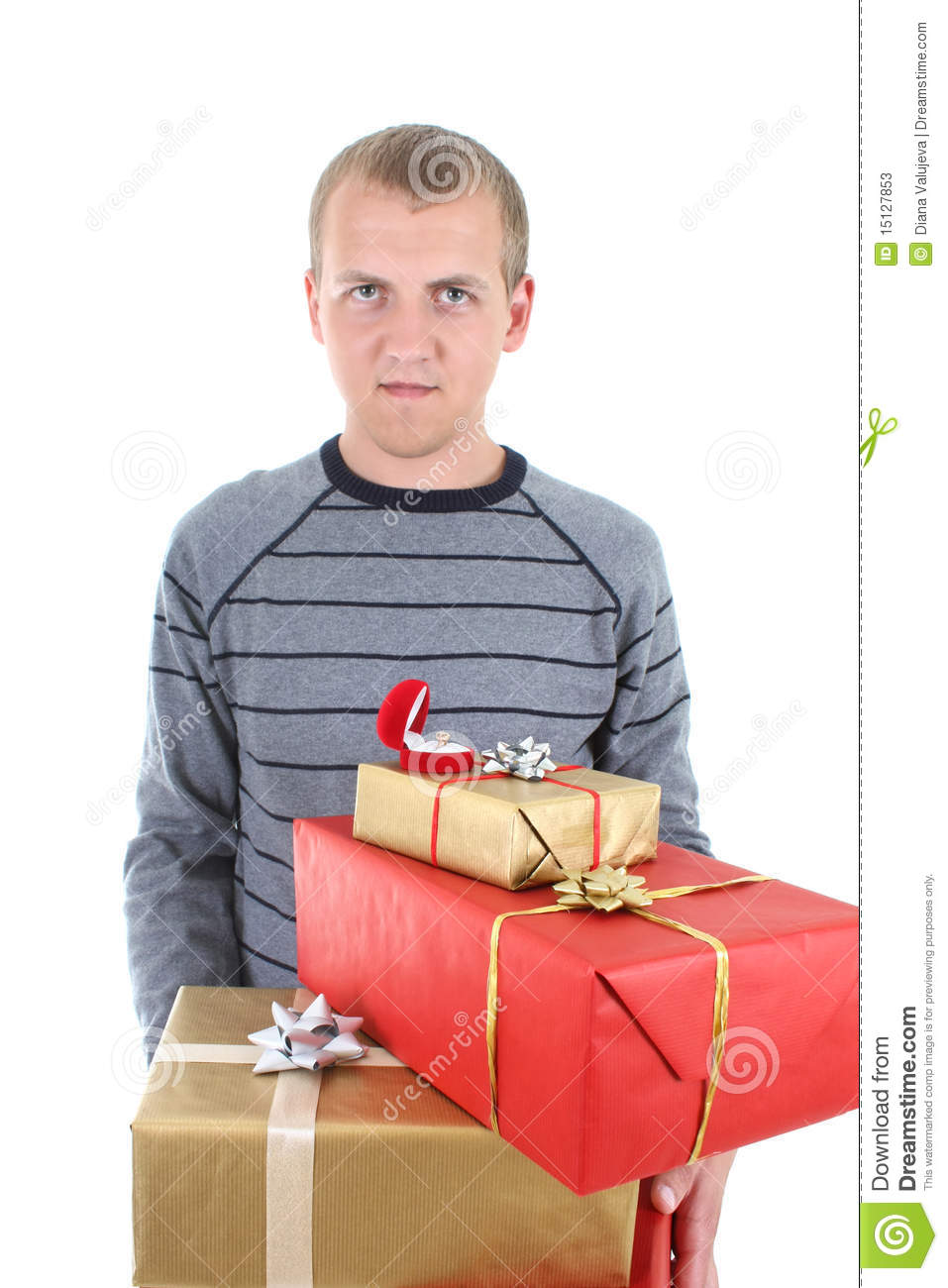 Young Man With Gifts Stock Photos Image 15127853