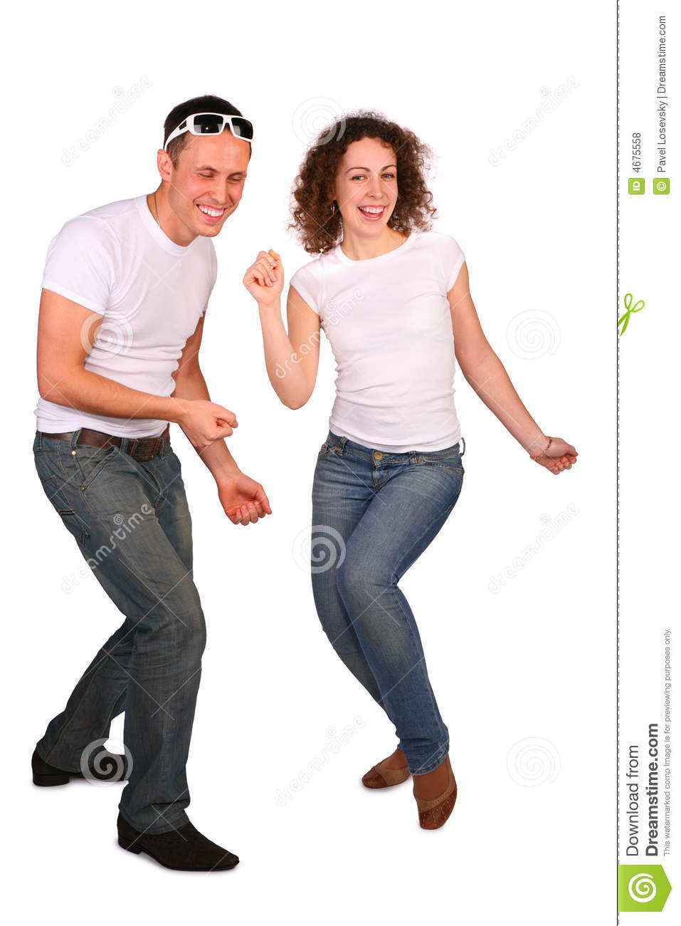 Young man and girl dancing