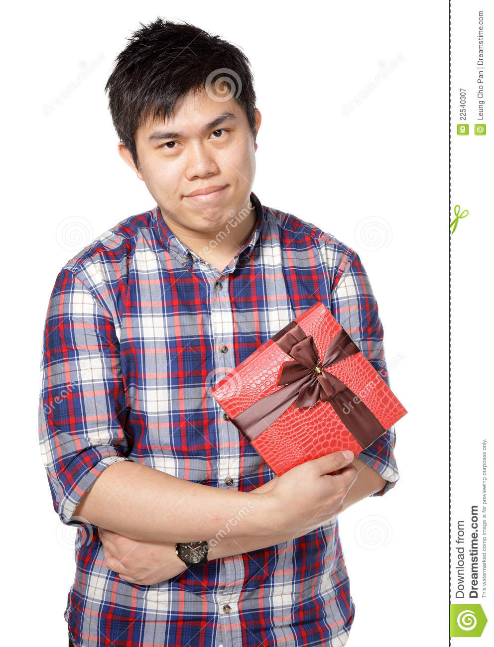 Young Man Give Gift Royalty Free Stock Photography Image
