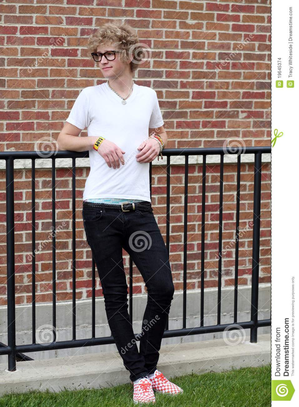 Young Man With Goofy Glasses Stock Photo Image 19645374