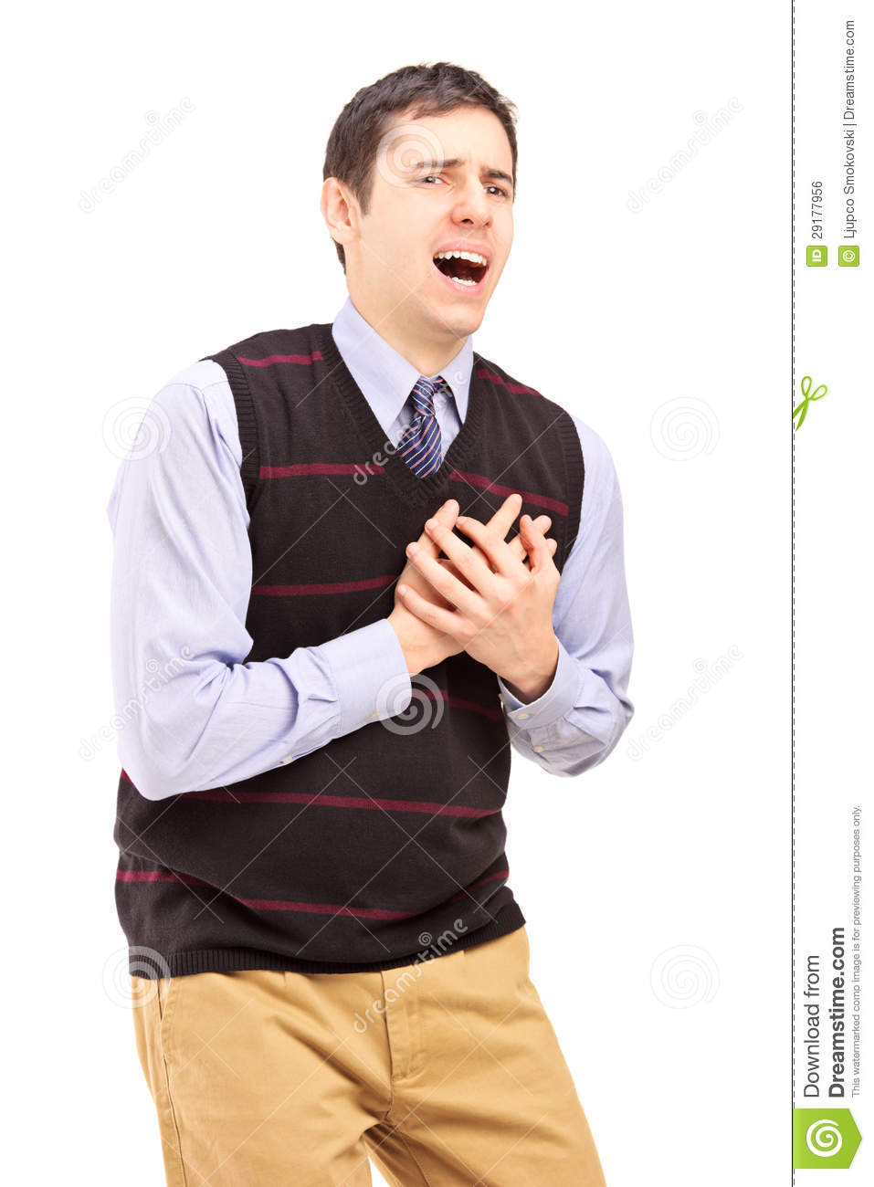 Young Man Having A Heart Attack Royalty Free Stock Image - Image ...