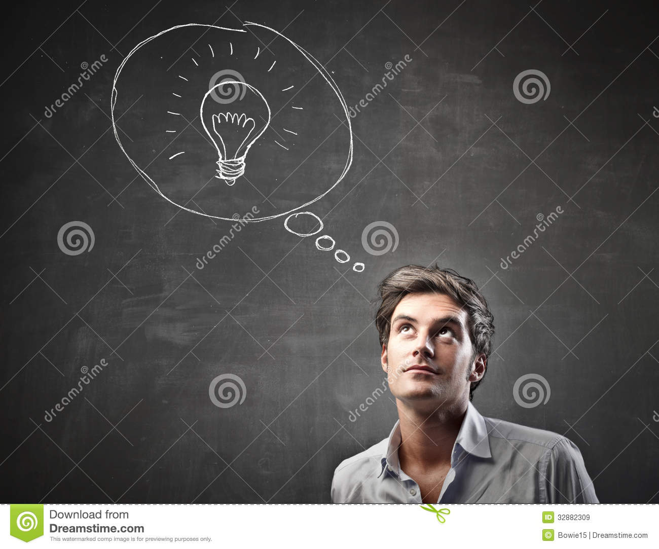 Young Man Having An Idea Royalty Free Stock Images Image