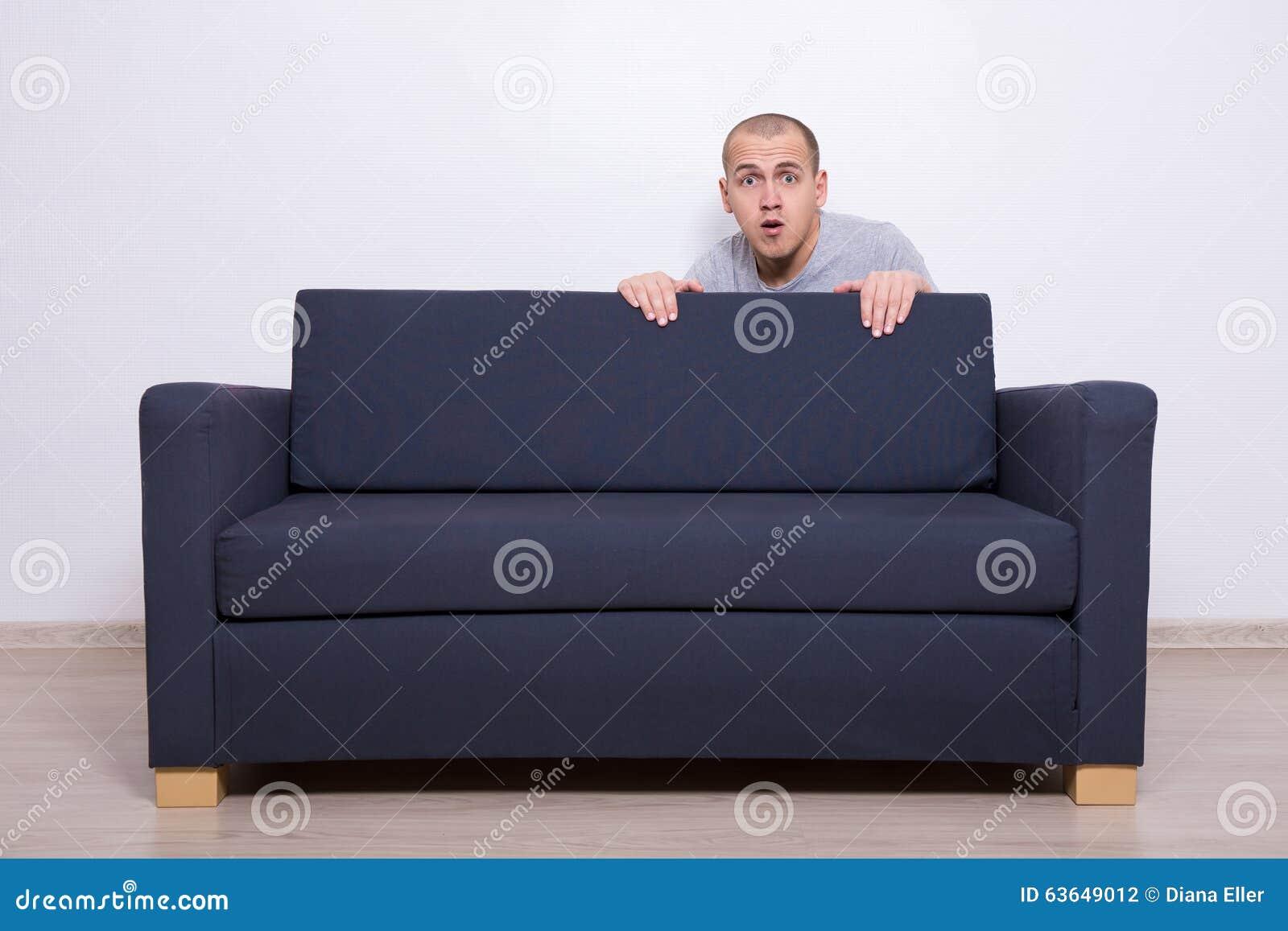 man sofa