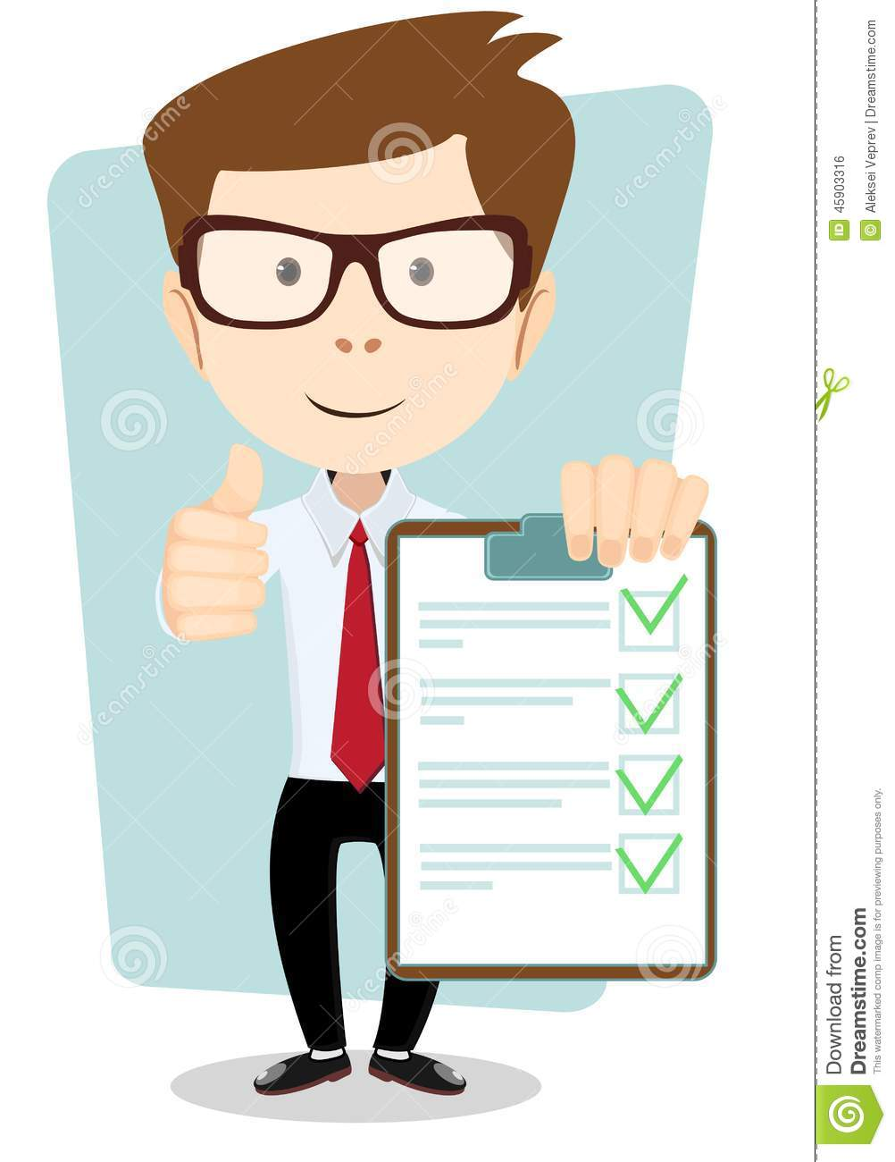 Young Man Holding A Paper With Green Flags, Vector Stock ...