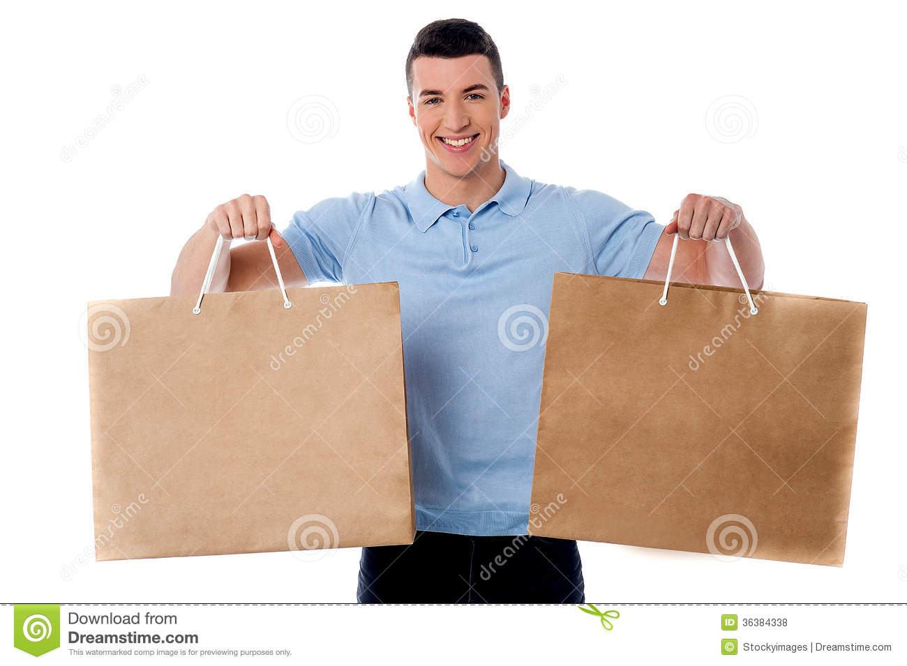 Young Man Holding Shopping Bags Royalty Free Stock Photos - Image ...