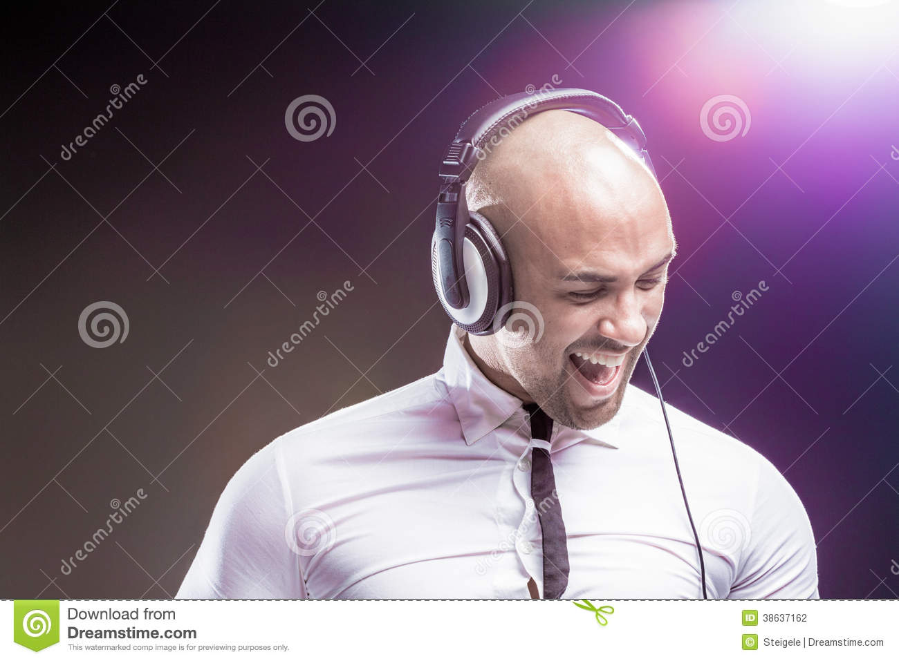 Young Man Listening To Music Stock Photography - Image ...
