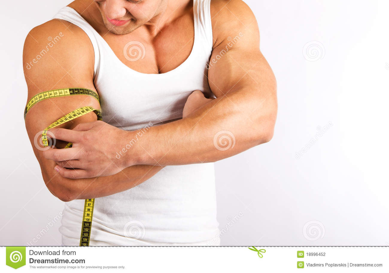 young man measuring his biceps stock photo image of eating athletic 18996452. Black Bedroom Furniture Sets. Home Design Ideas