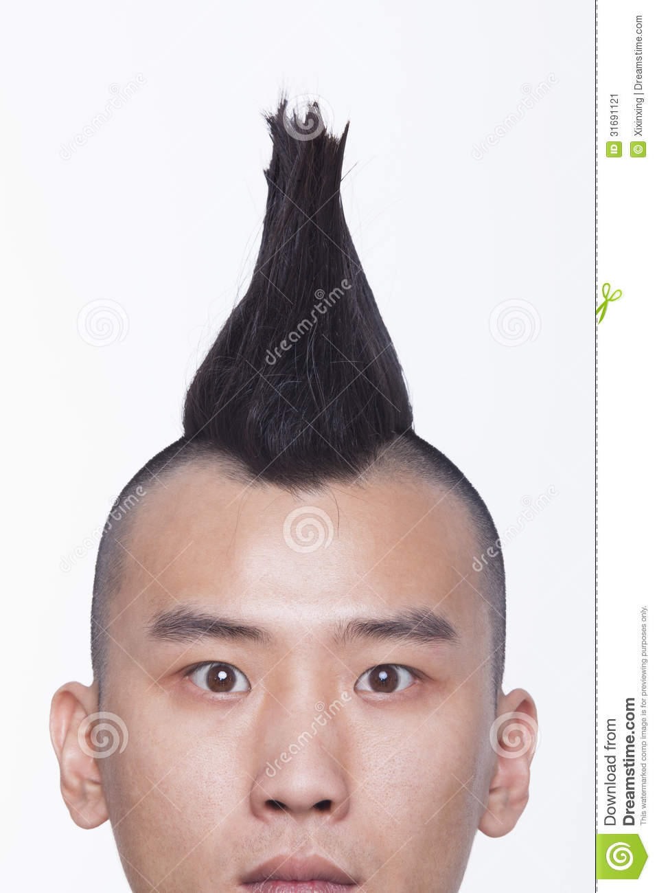 Young man with Mohawk close-up