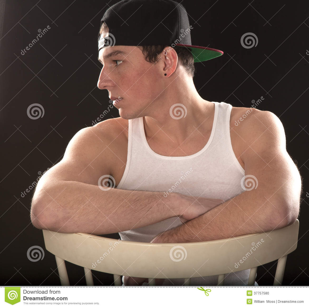 Fit Man In Tank Top Stock Image - Image: 37757411