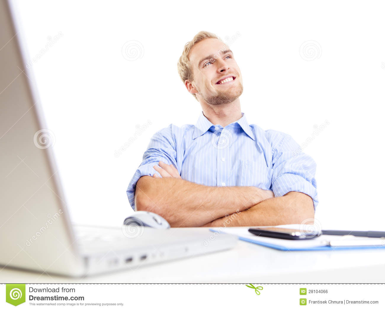 Young man at office daydreaming royalty free stock image for Www dreamhome com