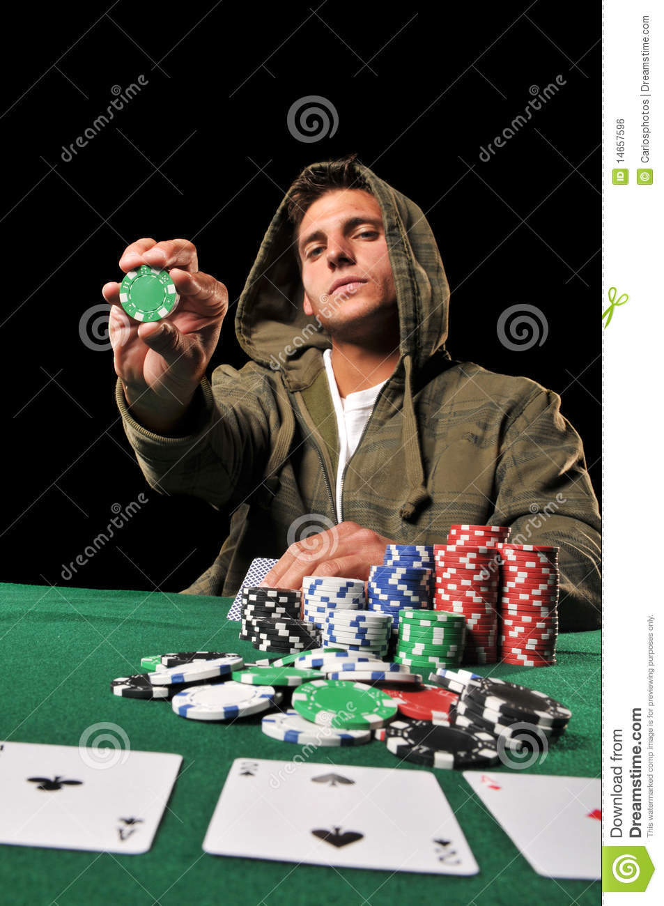 young man playing poker stock photo image of addiction