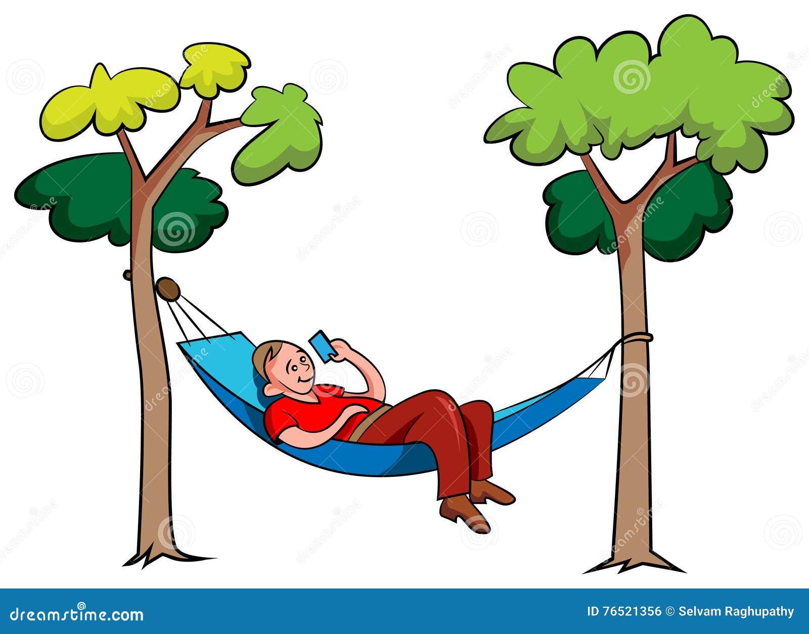 Cartoon Man Relaxing Cartoon Vector | CartoonDealer.com ...