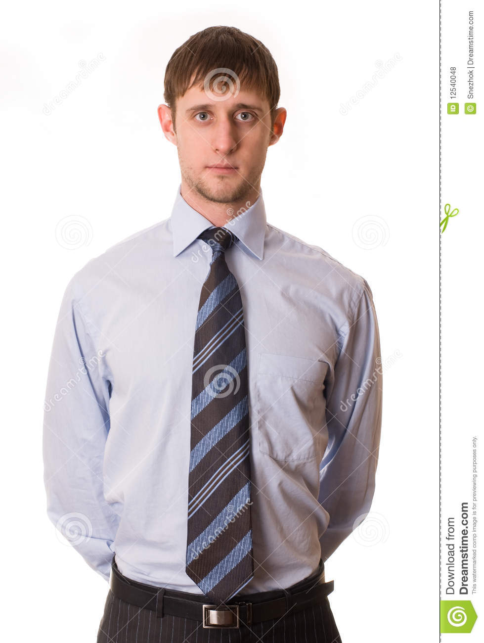 young man in shirt and tie stock photo image of light