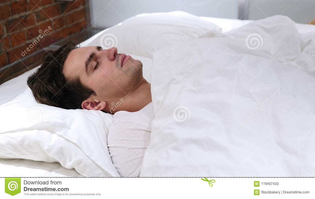 17 Fascinating Facts About Sleep - Purple   Man Sleeping In Bed At Night