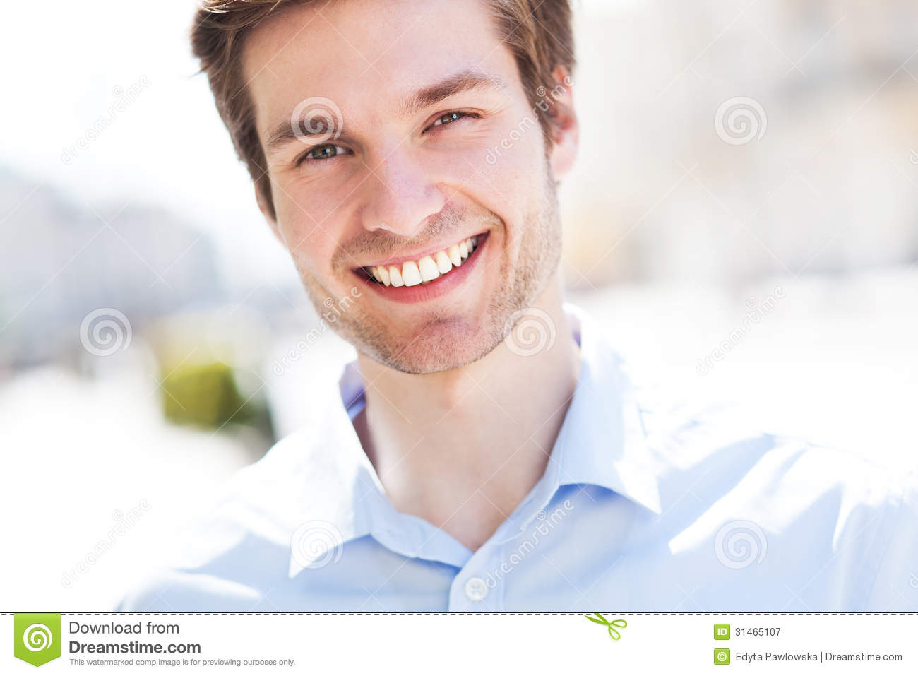Smiling Young Man. Stock Image