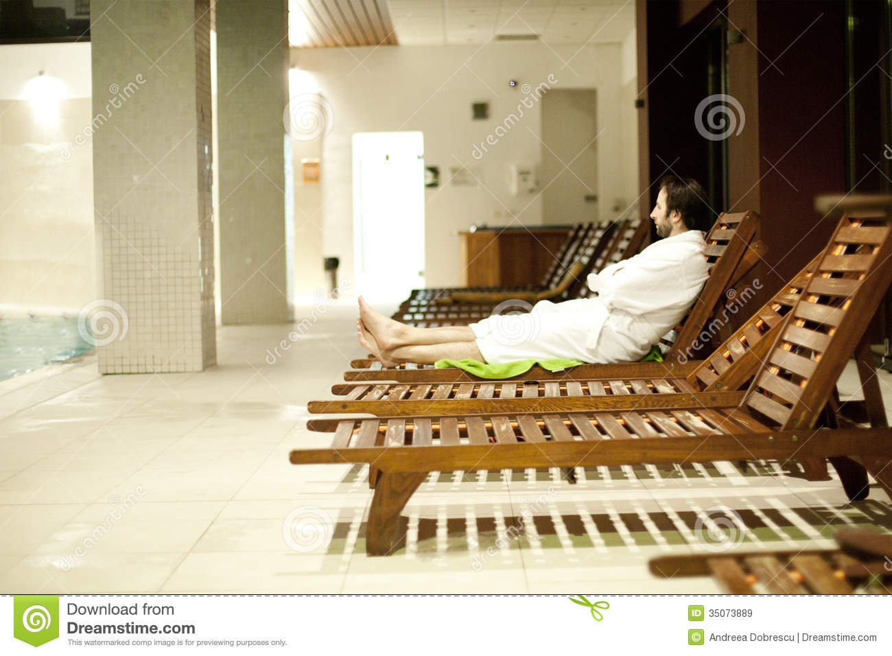 Young man at the spa center stock image image 35073889 for Salon younga