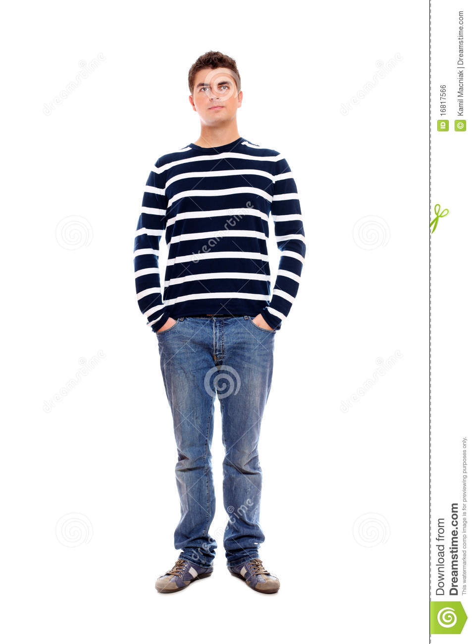 Young Man Standing Firmly With Hands In Pockets Stock Photo - Image