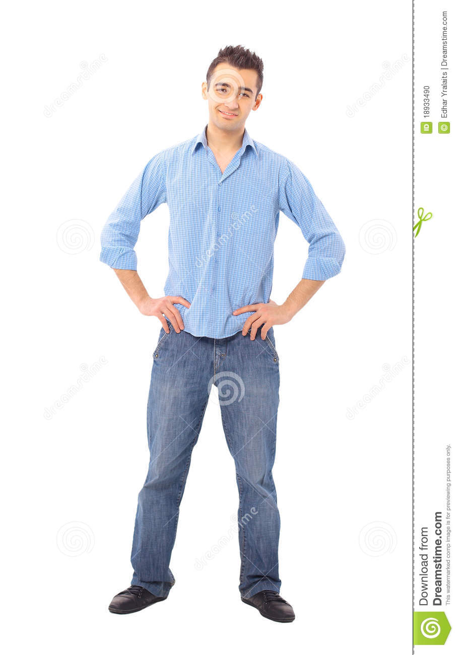 Young Man Standing With Hands Stock Photo - Image: 18933490