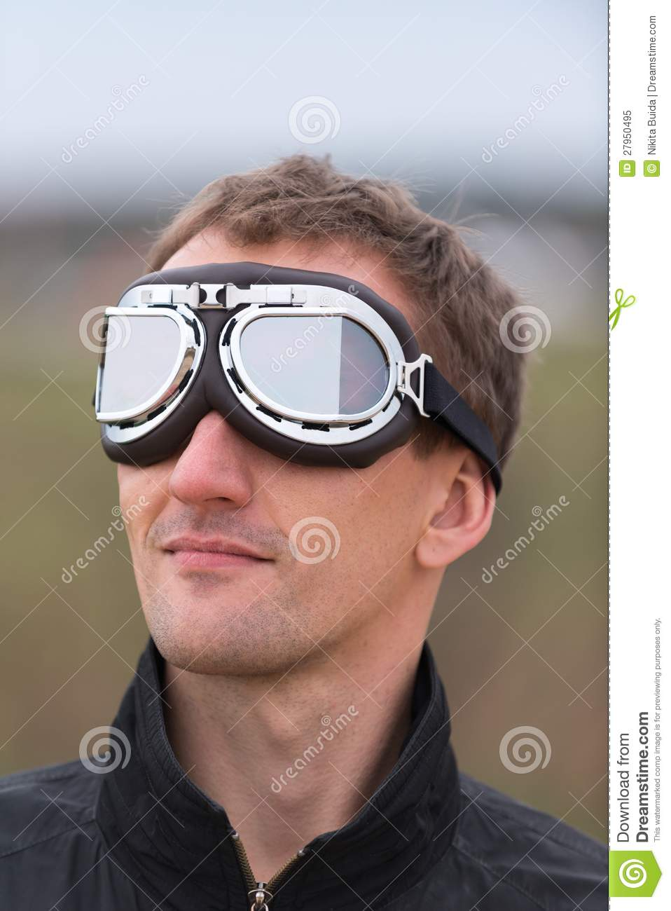 goggle man  Young Man With Steampunk Aviator Goggles Royalty Free Stock Photo ...