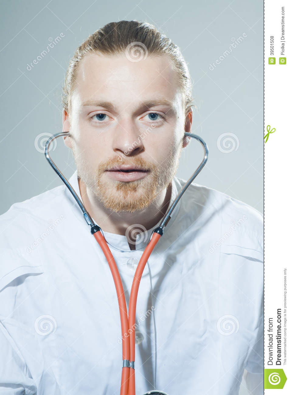 Young man with stethoscope
