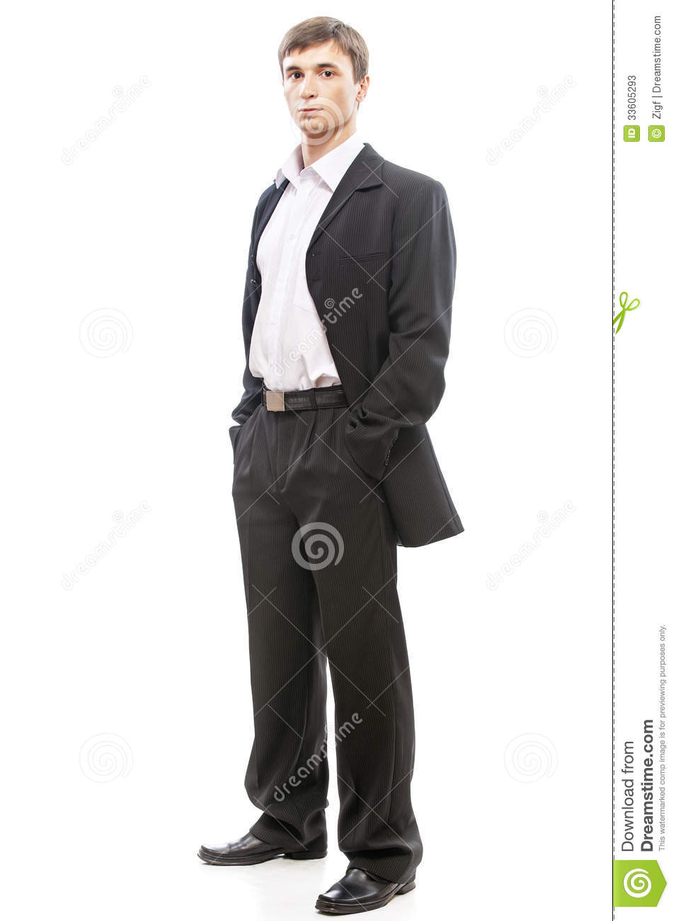 Young man in suit full stock image. Image of black, adult ...