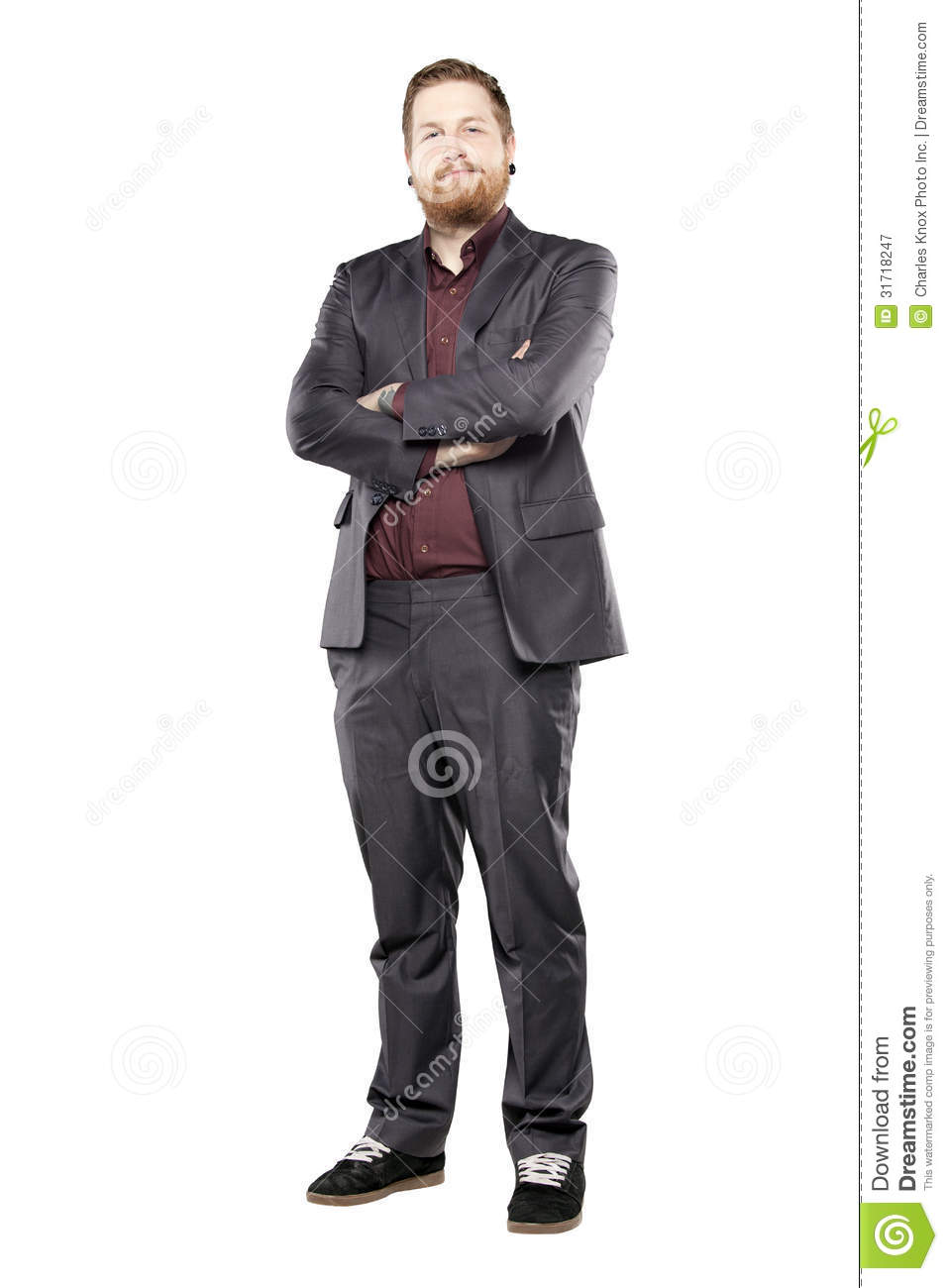 15 Year Boys Bedroom: Young Man In Suit With Tattooes Stock Image