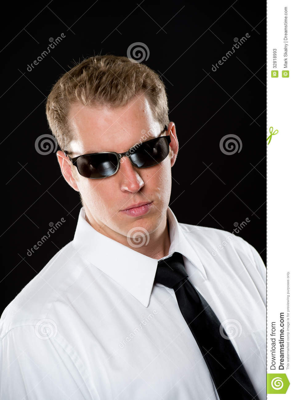 Young Man in Sunglasses stock image. Image of hair ...
