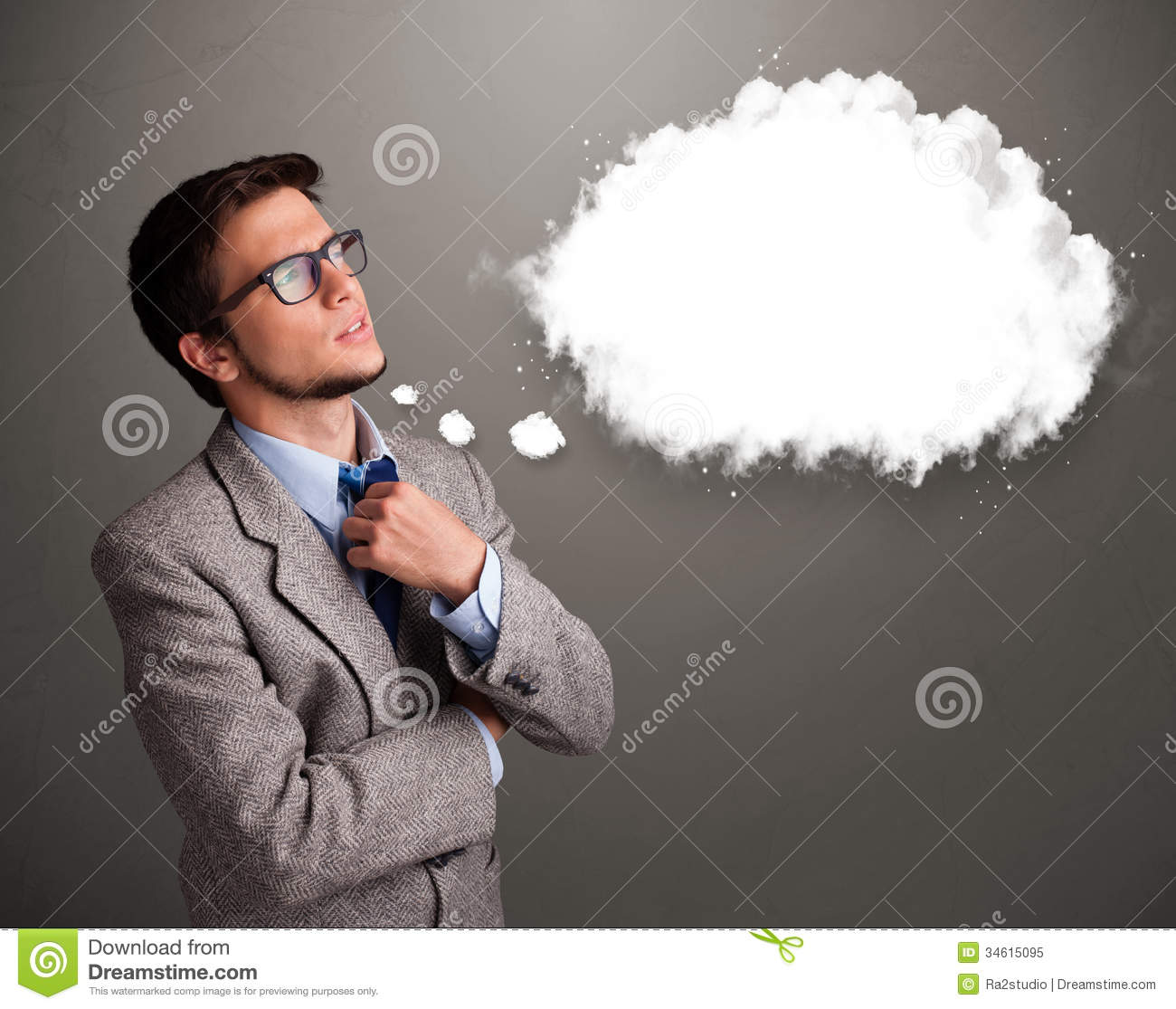 ... Or Thought Bubble With Cop Royalty Free Stock Photo - Image: 34615095