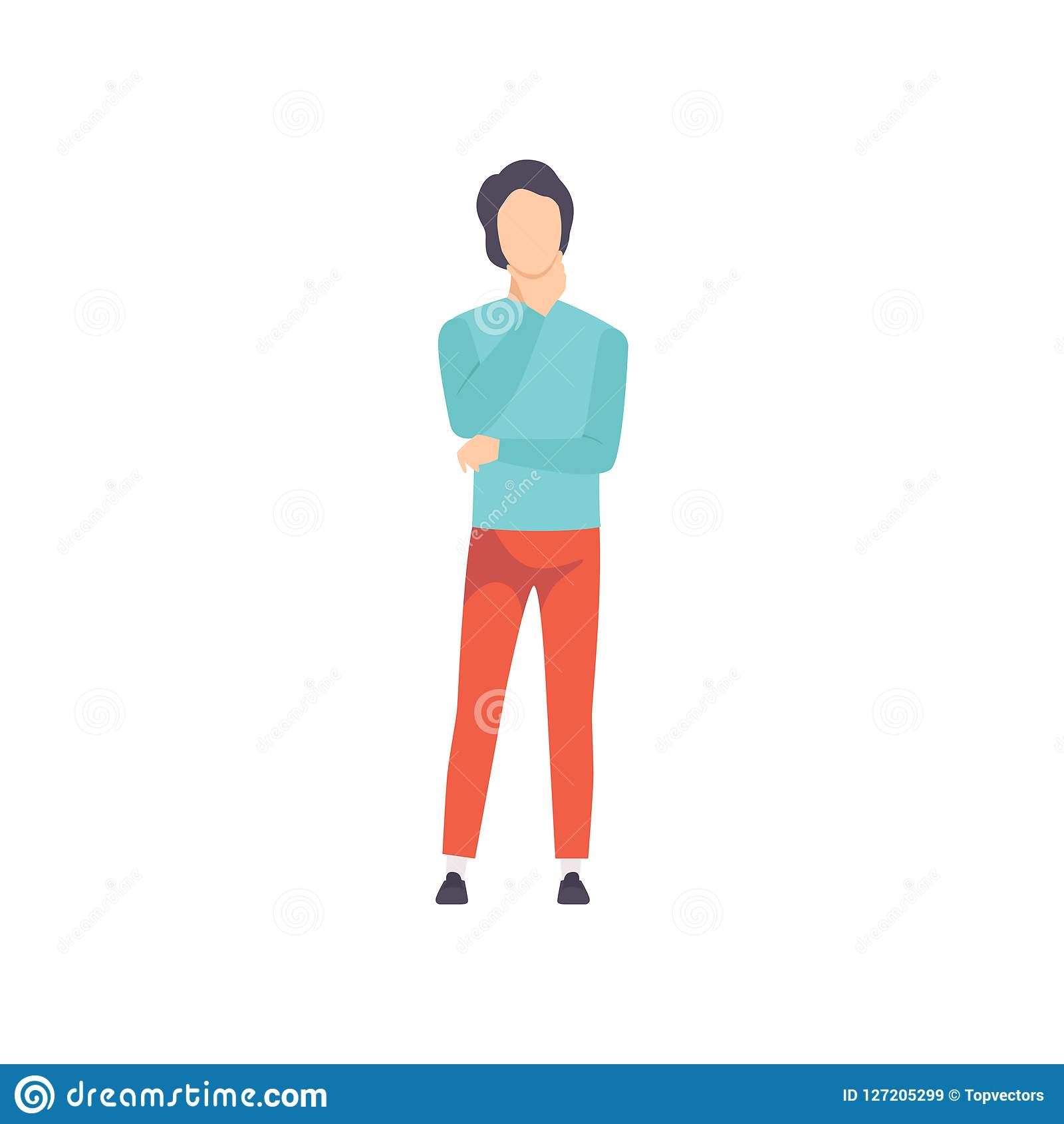 Young Man Thinking Of Something Vector Illustration On A White Background Stock Vector Illustration Of Standing Solution 127205299 Well, would you describe yourself as a logical or a creative person? https www dreamstime com young man thinking something vector illustration white background young man thinking something vector illustration image127205299
