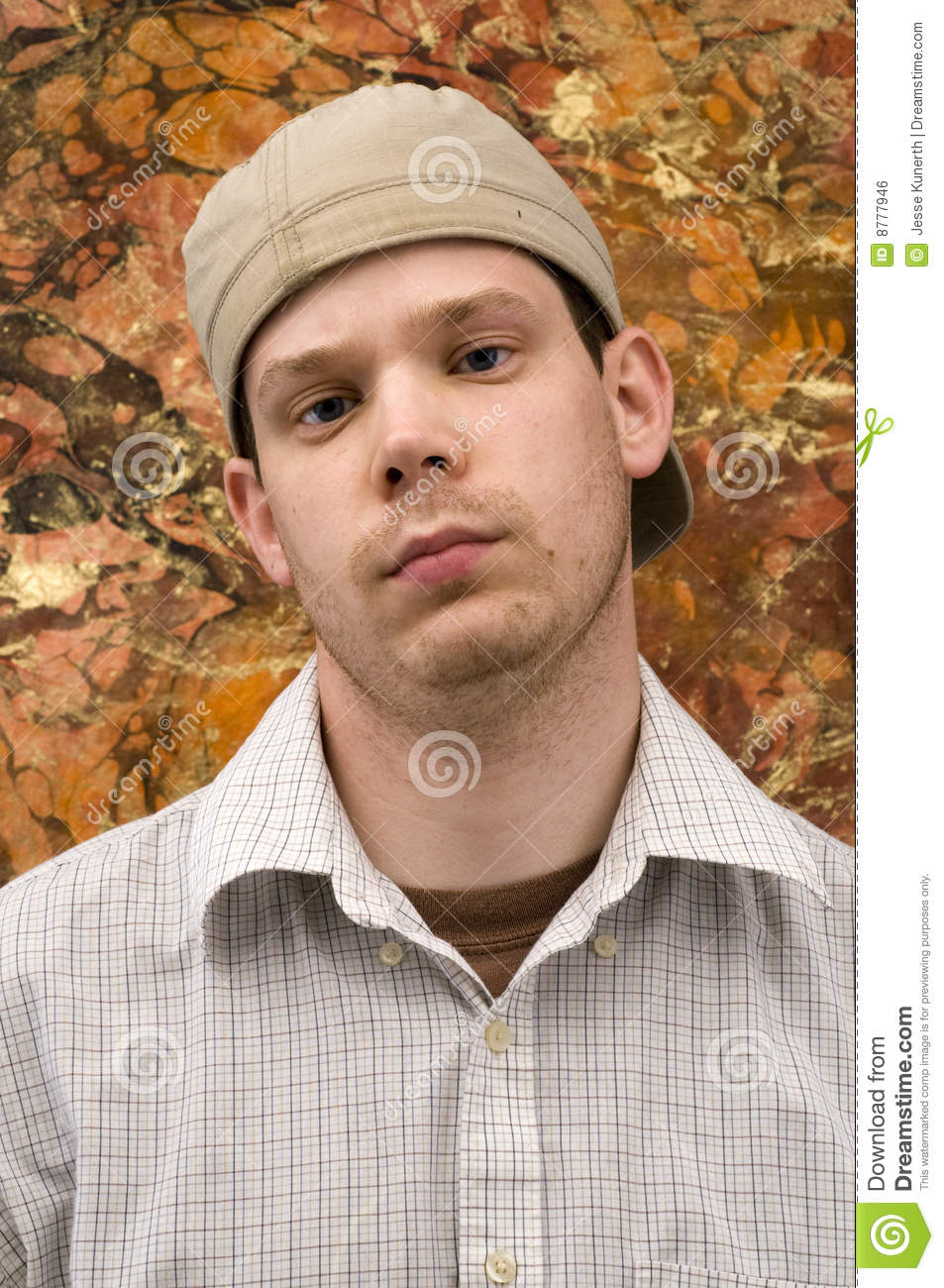 15 Year Boys Bedroom: Young Man With Tough Look Stock Photo. Image Of Backwards