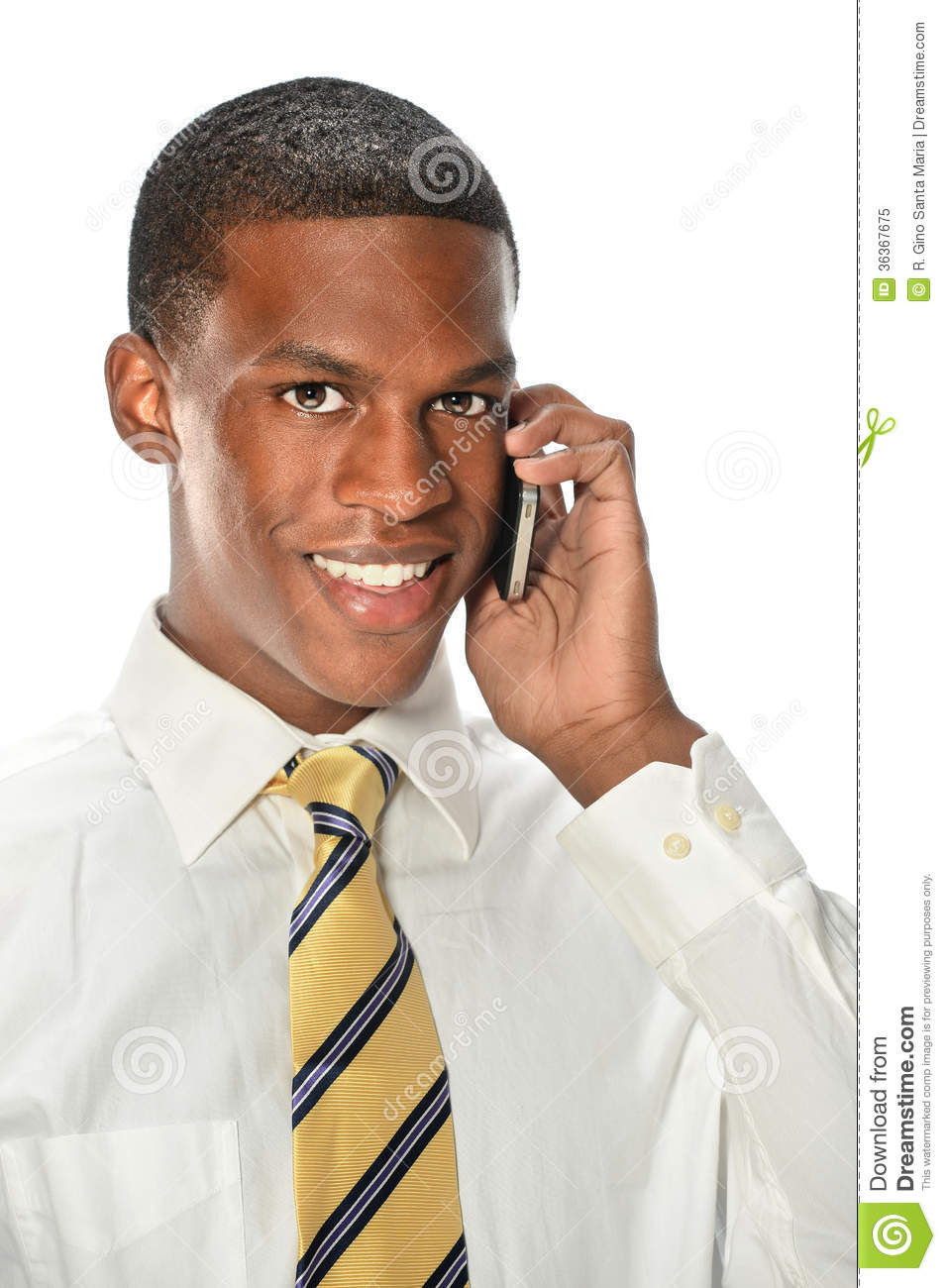 Man On Cell Phone : Young man using cell phone royalty free stock photo