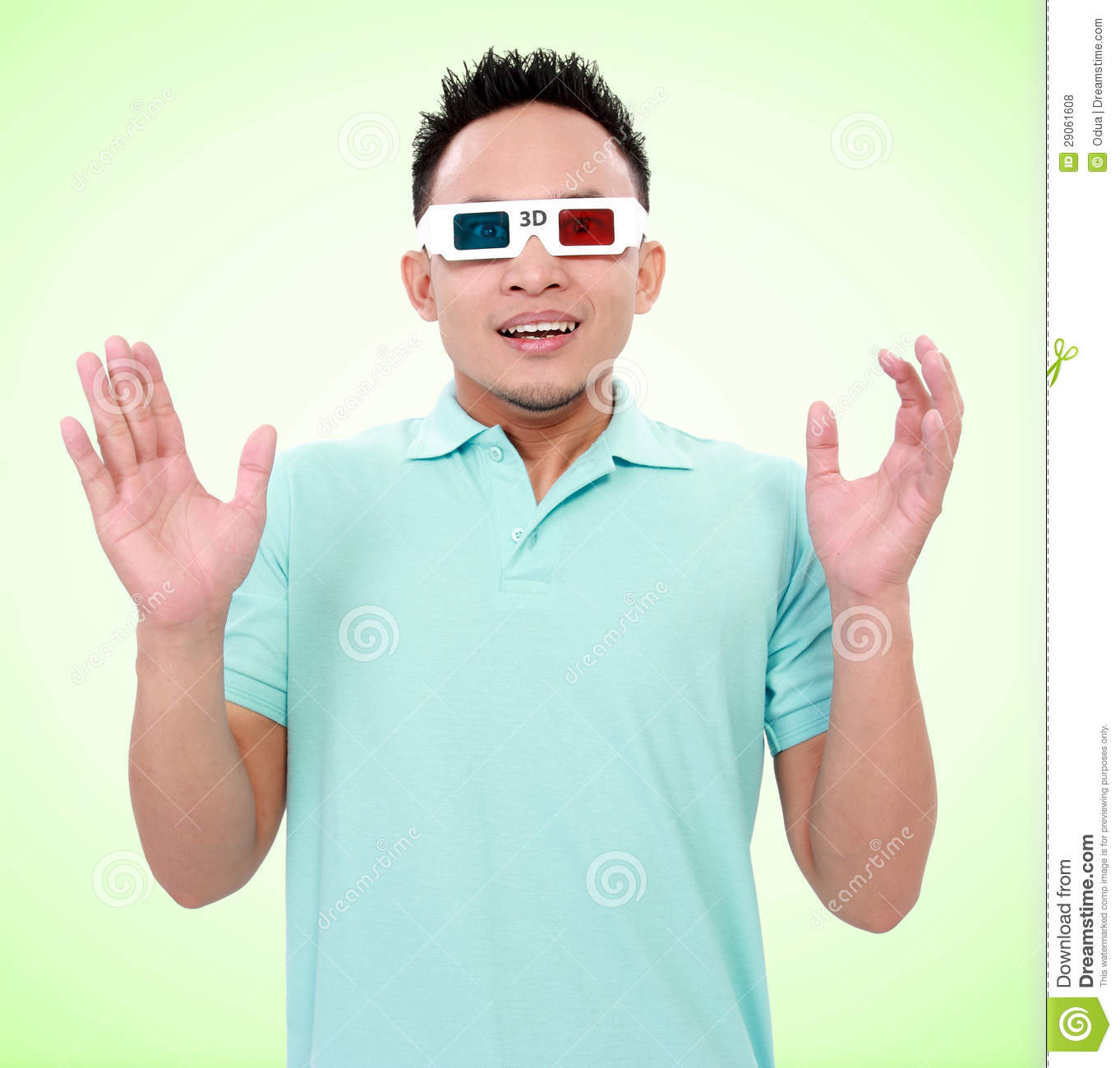 Young Man Wearing 3d-glasses Royalty Free Stock Photos ...