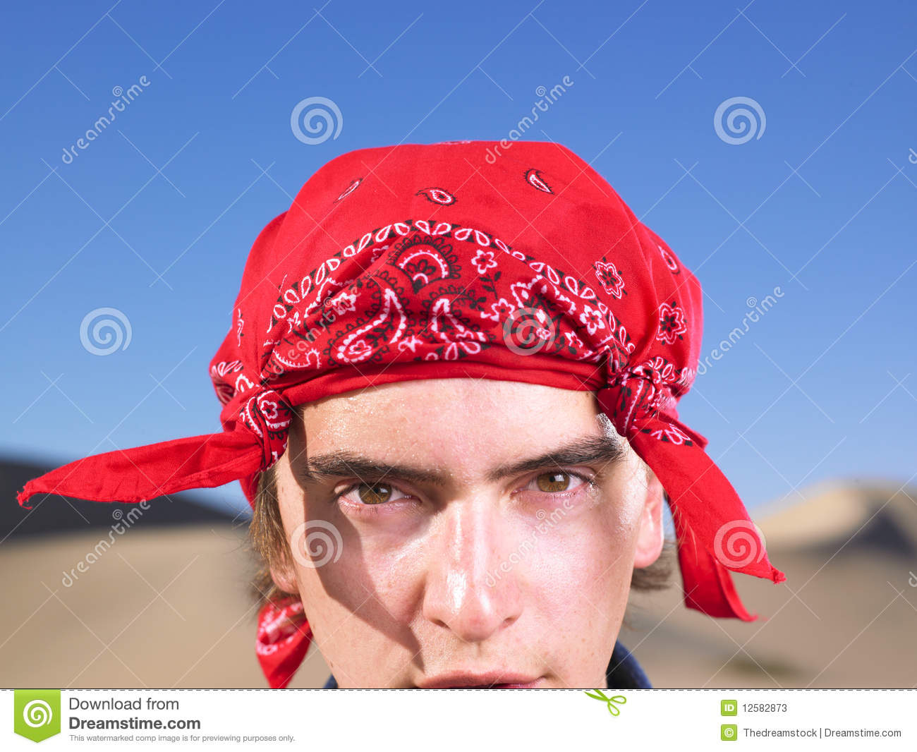 Young Man Wearing Bandana Stock Photos Image 12582873