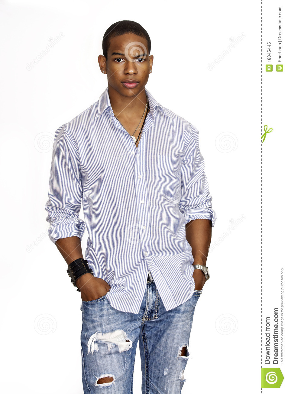 Royalty Free Stock Images Young African American Male