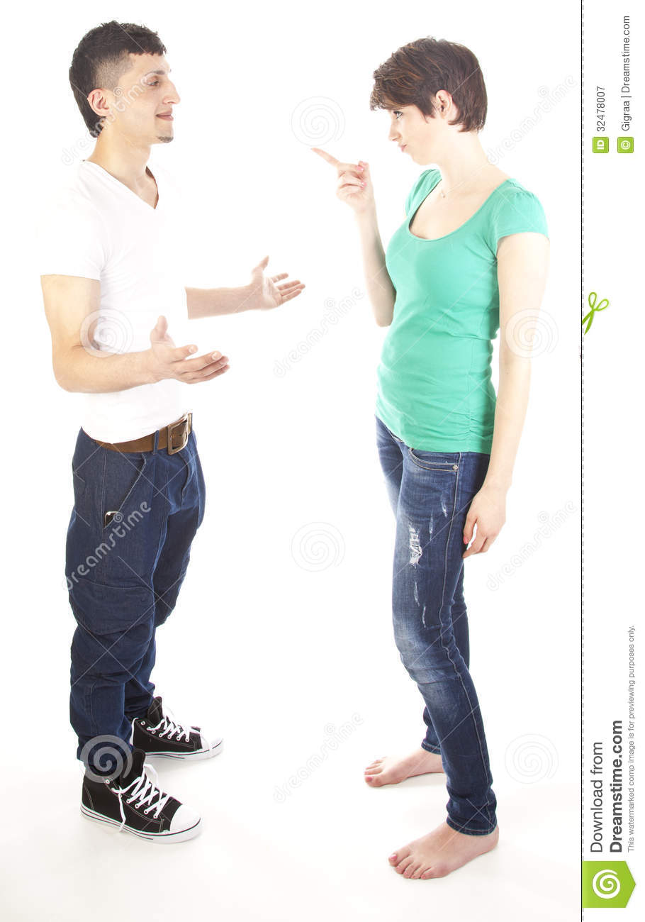 Young Man And Woman Arguing Royalty Free Stock Photography - Image ...