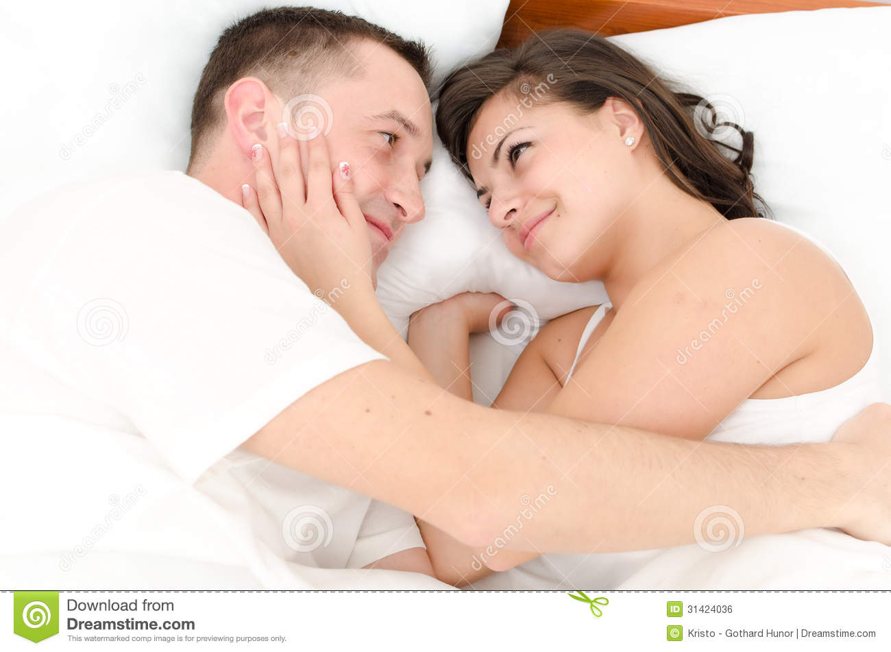 Picture of man and woman in bed